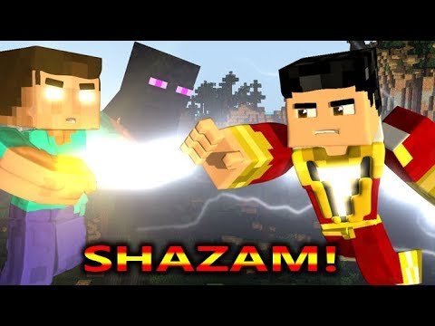 SHAZAM VS MONSTER SCHOOL CHALLENGE! Ft. Baldi (Official) Minecraft Game Animation Video