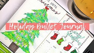 Holiday Bullet Journal | Plan With Me! | CHRISTMAS SPREADS | Lucie Fink