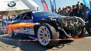 Anti Lag Custom Bmw E30 swap M5 Turbo by Powerfanatics-Garage - Tuning Show 2017 #2