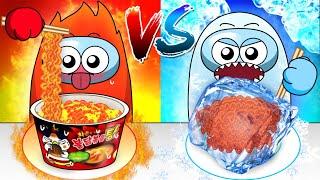 Hot VS Cold Food Challenge  - …