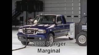 Ford Ranger Crash Tests 1998-2011(all tests with ratings)