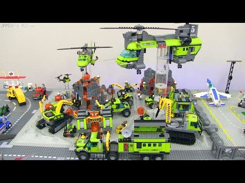 All LEGO City 2016 Volcano sets on display! - YouTube