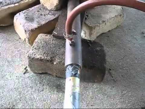 How To Make A Simple Forced Air Propane Burner For Melting