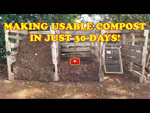 Making Compost in 30 Days Using Pallet Wood Bins