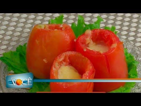 Por Você - Receita Saudável: Tomate recheado 12/08/17