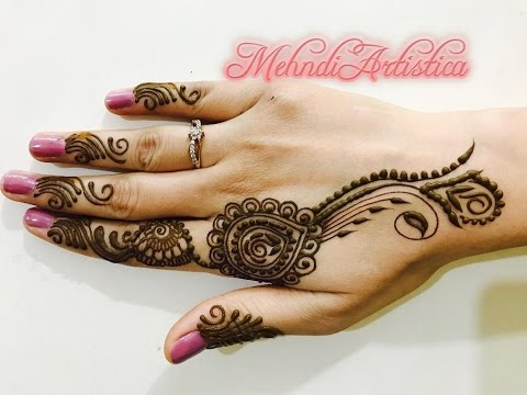 Mehndi Designs Latest Simple : Easy simple beautiful gulf floral henna mehndi designs for hands