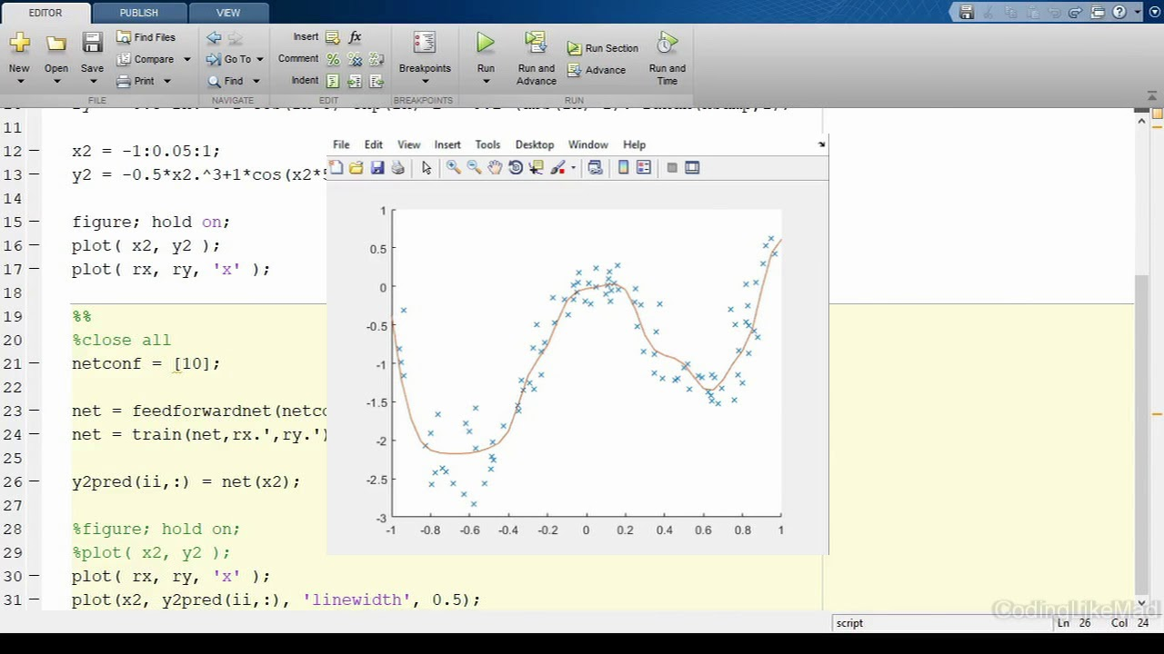 Neural Networks in Matlab: Part 1 - Training Regression Networks