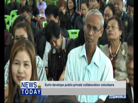 Surin develops public private collaboration volunteers