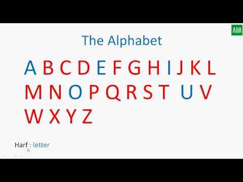 İngilizce Alfabe  Dersi - İngiliz Alfabesi - Harflerin Okunuşları ve Kodlama Dersi