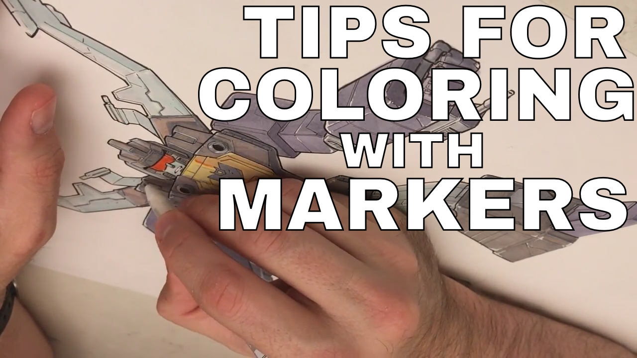 tips for coloring with markers
