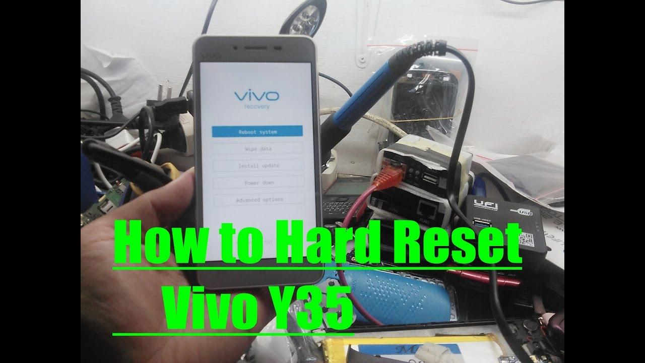 How To Hard Reset Vivo Y35 Youtube
