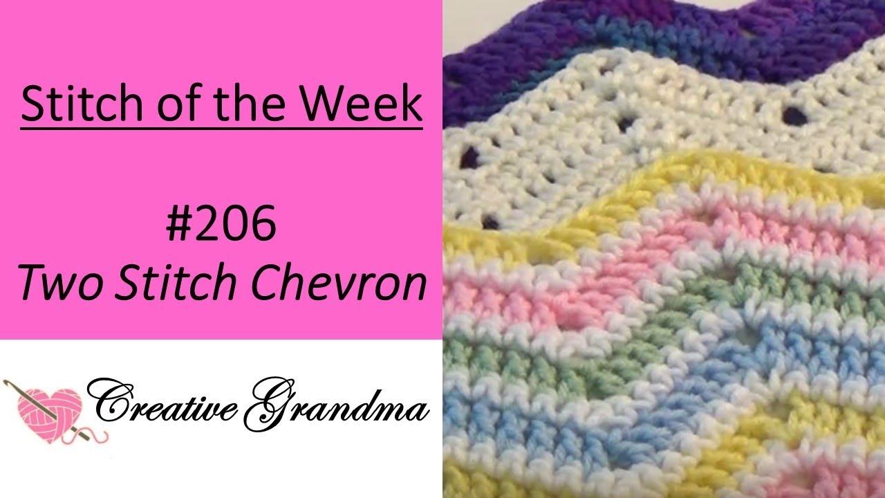 Stitch Of The Week How To Crochet Chevron Ripple Stitch Youtube