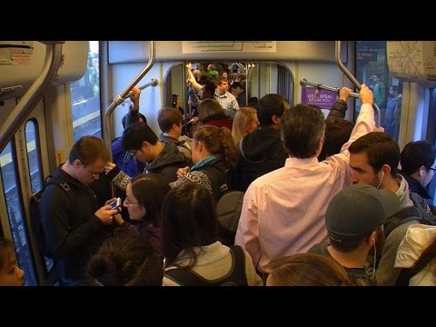 Which City Has the Most Crowded Commuter Trains?