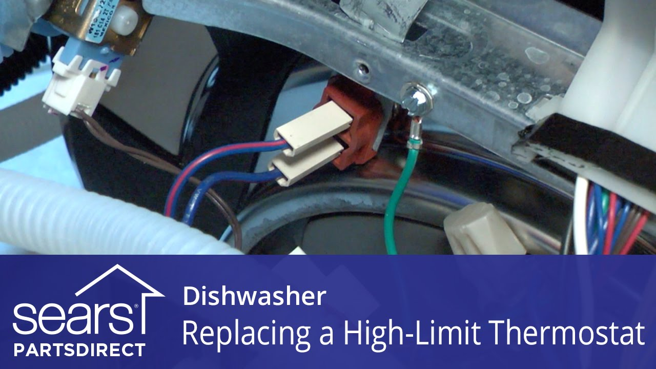 Replacing The High Limit Thermostat On A Dishwasher Youtube Bosch Dryer Wiring Diagram