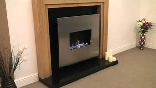 Corona - Traditional Flueless Gas Fire In Oak Featuring Open Flame Flueless Burner.