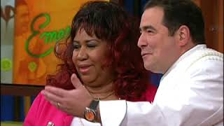 Aretha Franklin on Emeril Live Part 1 (We'll Miss You Aretha!)