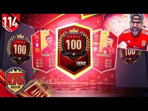 OMG WE PACKED A HUGE RED! INSANE TOP 100 & ELITE REWARDS! FIFA 19 Ultimate Team RTG #114