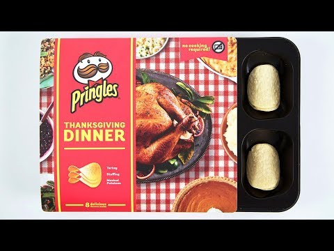 Pringles Creates Entire Thanksgiving Dinner in Potato Chip Form