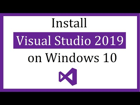 How to install Visual Studio 2019 on Windows 10