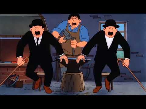 7 - 1 The Adventures of Tintin The Black Island Part 1,  Cartoony Rex
