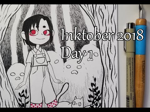 Inktober First Day! Daisy Goes To Magic Forest