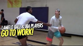 LAMELO BALL & JBA PLAYERS GO TO WORK! Big Baller Brand is Ready for the JBA DEBUT