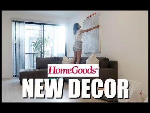 NEW LIVING ROOM DECOR HOMEGOODS HAUL | Diana & Jose