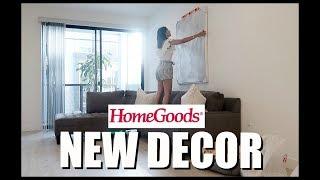 NEW LIVING ROOM DECOR HOMEGOODS HAUL | Diana & Jose