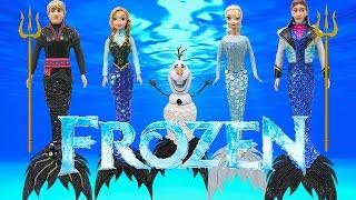 Play Doh Mermaid Elsa Anna Kristoff Hans Olaf