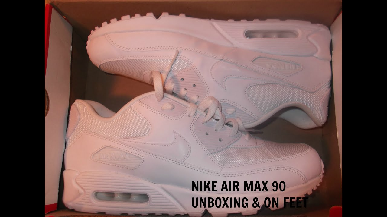 buy online d4704 63afd Nike Air Max 90 Unboxing   On Feet - YouTube