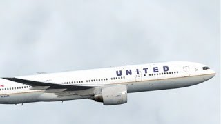 FSX HD CS 777-200 UNITED 600 San Francisco to Honolulu Full Flight Passenger Wing View REMAKE