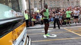 Usain Bolt en la 9 de Julio, le ganó al Metrobús thumbnail