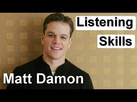 Английский на слух - интервью с Мэттом Дэймоном
