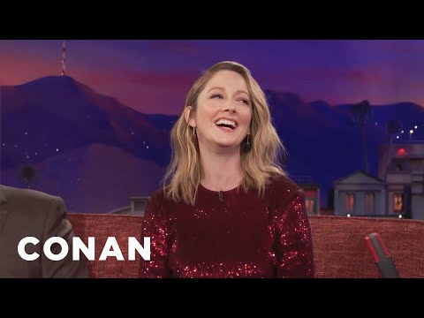 Judy Greer Can't Stop Swearing   CONAN on TBS