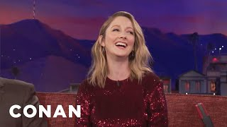Judy Greer Can't Stop Swearing  - CONAN on TBS