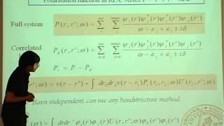 F  Aryasetiwan - First principles method for calculating the Hubbard U II