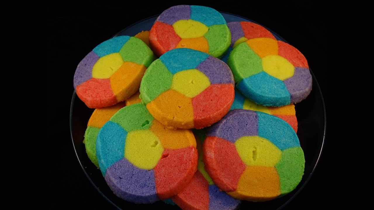Rainbow Jell-O Sugar Cookies- with yoyomax12 - YouTube