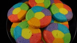 Rainbow Jell-o Sugar Cookies- With Yoyomax12