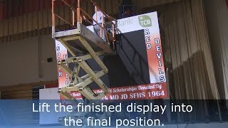 10' x 6' Indoor Display Ceiling Mount Installation