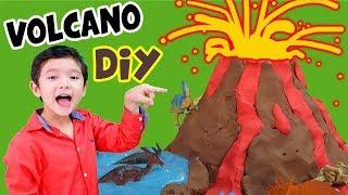 สกายเลอร์ | ภูเขาไฟ ลาวา มาแล้ว วิ่งหนีเร็ว!! ไดโนเสาร์โดนเผาเหลือแต่ซากฟอสซิล (DIY Volcano)