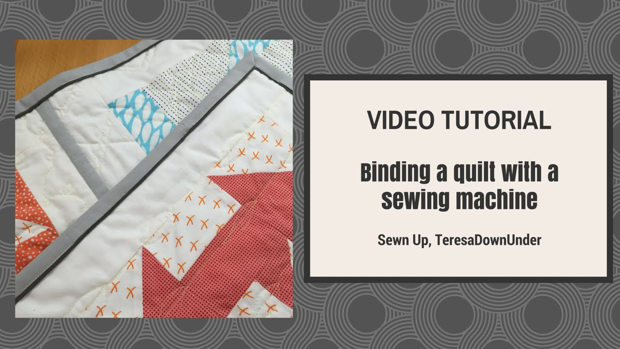 Machine binding tutorial | quilting tutorials, quilt binding.
