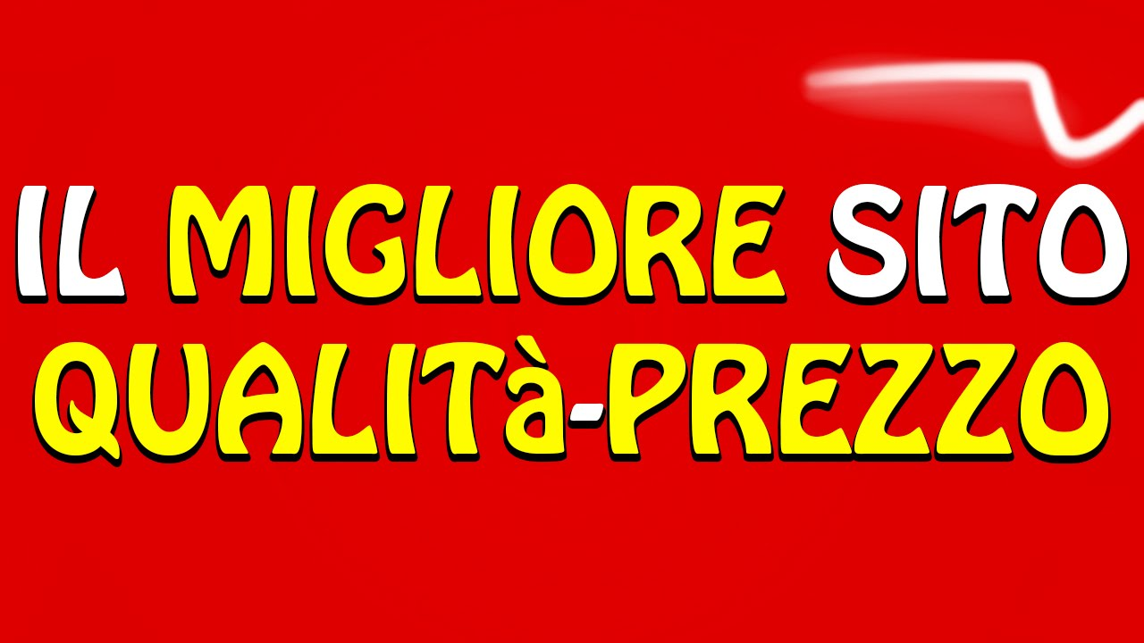 Il MIGLIORE Sito per Acquisti ONLINE!