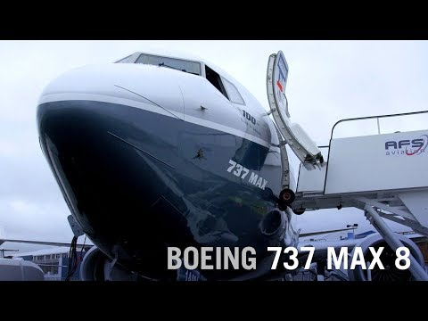 Boeing's 737 Max 8 Narrowbody Debuts at Farnborough Ahead of 2017 Service Entry – AINtv
