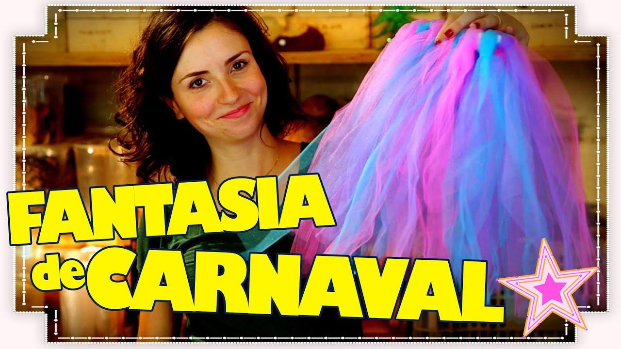 55667ef41 COMO FAZER SAIA COM TULE PARA FANTASIAS DE CARNAVAL - YouTube