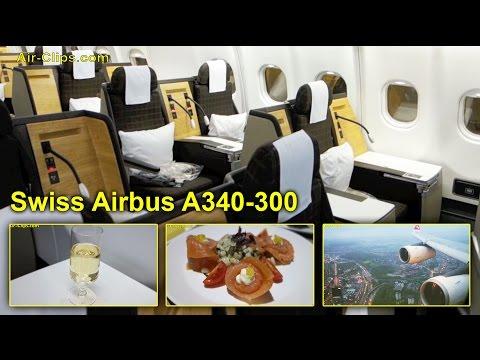 Swiss Airbus A340-300 Business Class TOTAL PERFECTION Hong Kong-Zürich [AirClips full flight series]