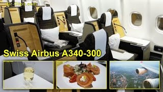 Swiss Airbus A340-300 Business Class TOTAL PERFECTION Hong Kong-Zürich [AirClips full flight series]