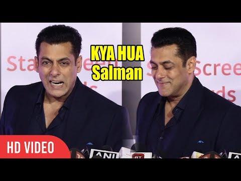 Salman Khan Funniest Gesture To Media | Star Screen Awards 2018