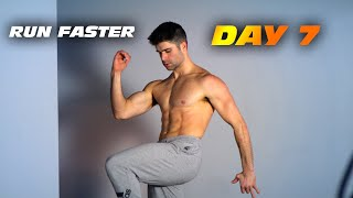No Gym In Home Workout - Run Faster - Day 7 - One Month Plan
