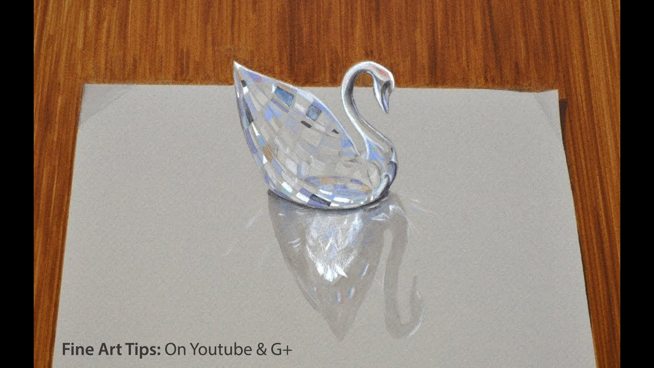 Drawing glass how to draw a 3d swarovski crystal swan fine art drawing glass how to draw a 3d swarovski crystal swan fine art tips by artistleonardo floridaeventfo Choice Image