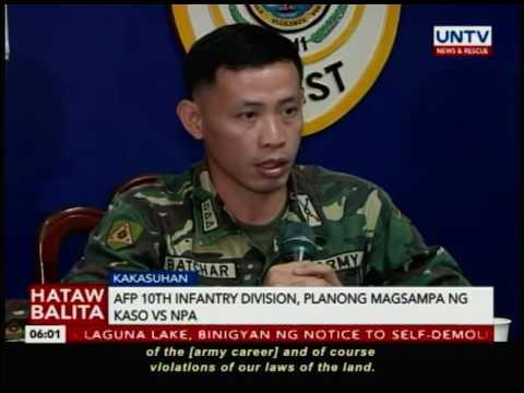 AFP 10th Infantry Division, planong magsampa ng kaso vs NPA